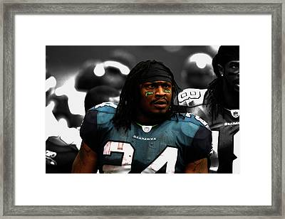 Marshawn Lynch Give Me The Ball Framed Print