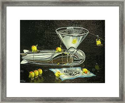 Martini Military Framed Print by Charles Vaughn