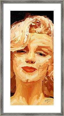 Framed Print featuring the painting Marylin Monroe 3 by James Shepherd