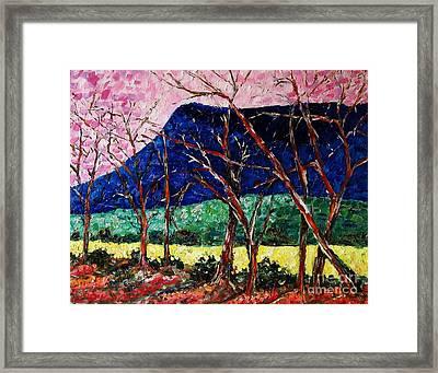Massanutten Peak Awaiting Spring Framed Print