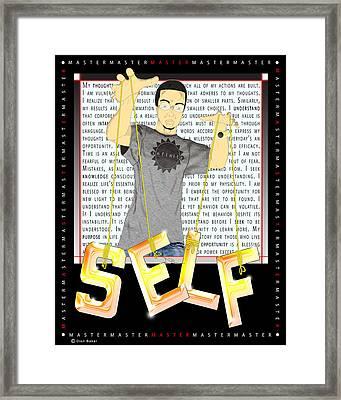 Master Self Framed Print by Dion Baker
