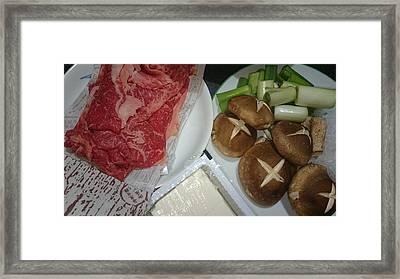 Materials Of The Sukiyaki Dish  Framed Print
