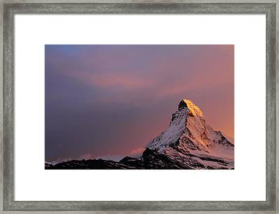 Matterhorn At Sunset Framed Print