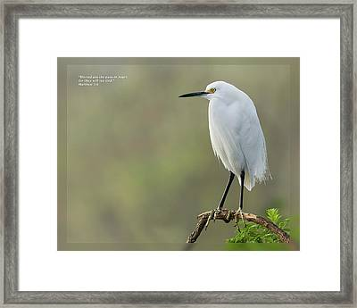 Framed Print featuring the photograph Matthew 5 8 by Dawn Currie