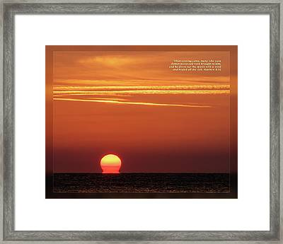 Framed Print featuring the photograph Matthew 8 16 by Dawn Currie
