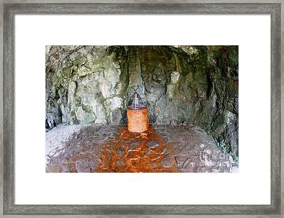Mattoni Waterfall - Artificially Built Waterfall For Mineral Wat Framed Print by Michal Boubin