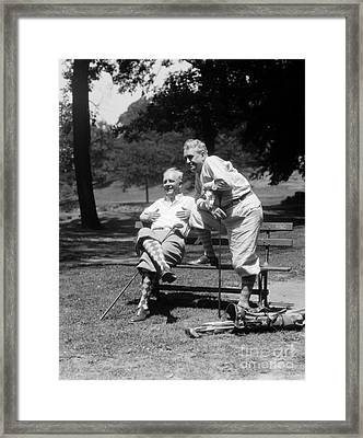 Mature Men Golfing, C.1930s Framed Print by H. Armstrong Roberts/ClassicStock