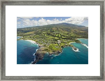 Maui Aerial Of Kapalua Framed Print by Ron Dahlquist - Printscapes