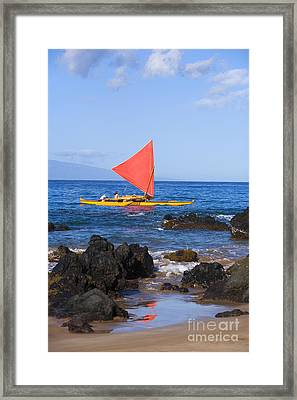 Maui Sailing Canoe Framed Print by Ron Dahlquist - Printscapes
