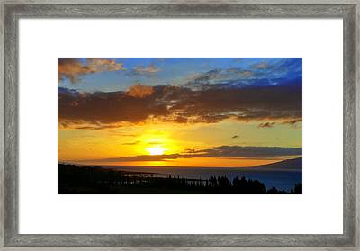 Maui Sunset At The Plantation House Framed Print
