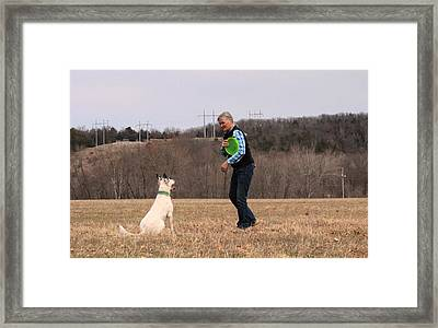Max Waiting Framed Print by Patricia Olson
