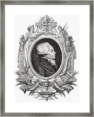 Maximilien Robespierre, 1758-1794 Framed Print by Vintage Design Pics