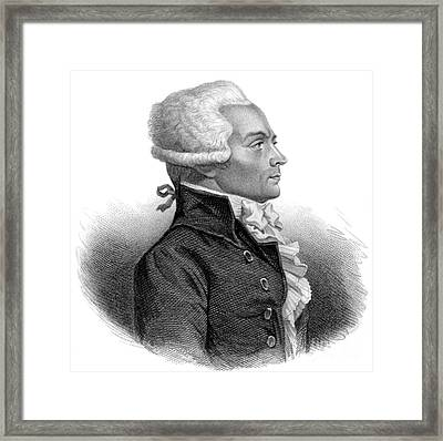 Maximilien Robespierre, French Framed Print by Science Source