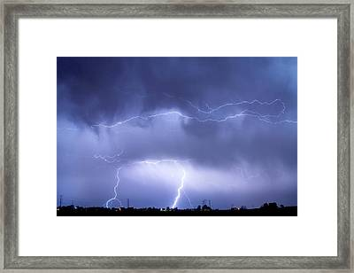 May Showers - Lightning Thunderstorm 5-10-2011 Framed Print