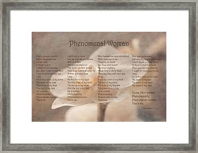 Maya Angelou - Phenomenal Woman  Framed Print