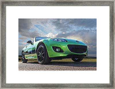 Mazda Mx-5 Sport Black Framed Print
