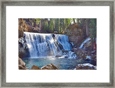 Mccloud River Falls Framed Print