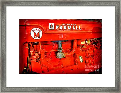 Mccormick Farmall Super M Framed Print by Olivier Le Queinec
