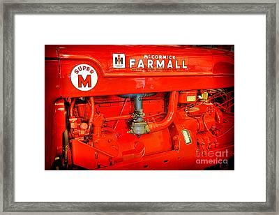 Mccormick Farmall Super M Framed Print