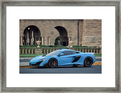 #mclaren #675lt With #pirelli #tires Framed Print