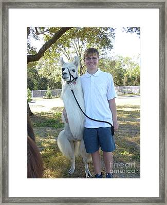 Me And My Friend Framed Print