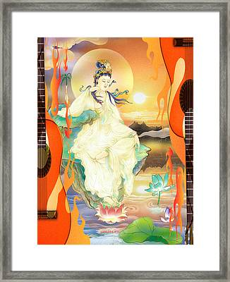 Medicine-giving Kuan Yin Framed Print by Lanjee Chee