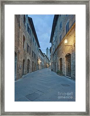 Medieval Street Framed Print