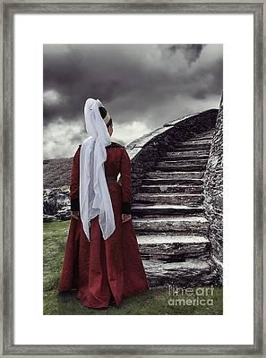 Medieval Woman Framed Print by Amanda Elwell
