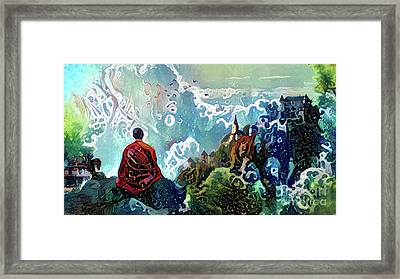 Meditating With Nature Framed Print