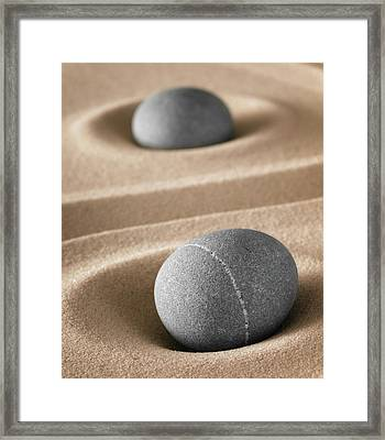 Framed Print featuring the photograph Meditation Stones by Dirk Ercken