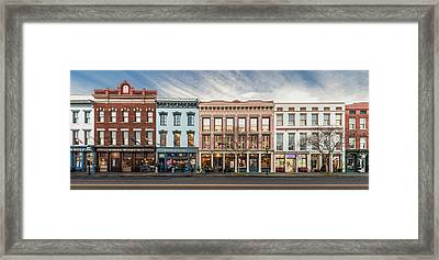 Framed Print featuring the photograph Meeting Street - Charleston, South Carolina by Carl Amoth