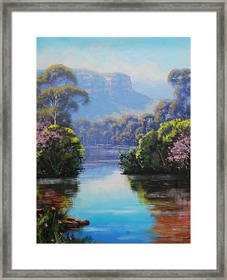 Megalong Creek Framed Print