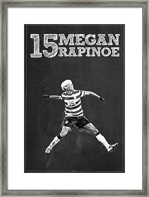 Megan Rapinoe Framed Print by Semih Yurdabak