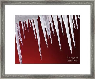 Melting Icicles Framed Print by Oleksiy Maksymenko