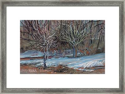 Melting Snow Framed Print by Donald Maier
