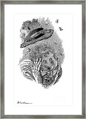 Memory Moths, Conceptual Artwork Framed Print