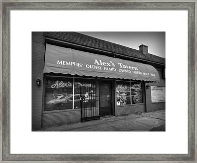 Memphis - Alex's Tavern 001 Framed Print