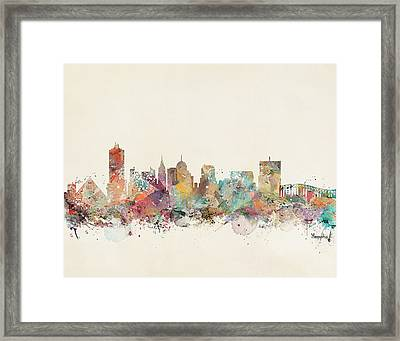 Memphis City Skyline Framed Print by Bri B