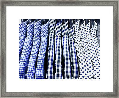 Men's Shirts Hanging Framed Print