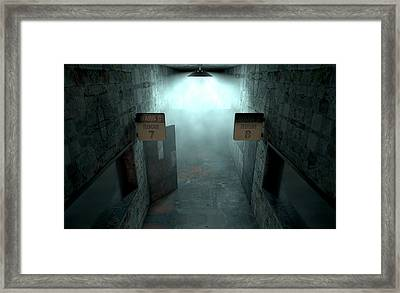 Mental Asylum Haunted Framed Print