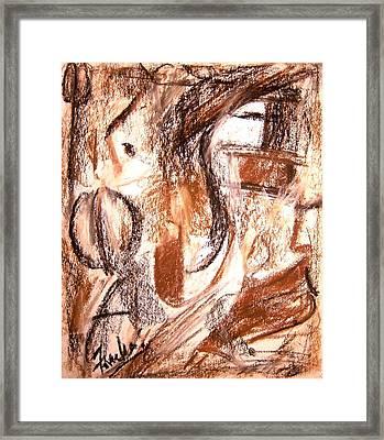 Mental Fiction II Framed Print by Fareeha Khawaja