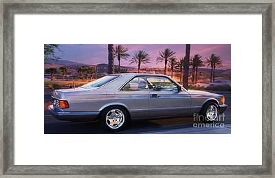 Mercedes 560sec Framed Print by Gunter Nezhoda