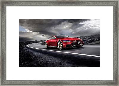 Mercedes A M G   G T Framed Print by Movie Poster Prints