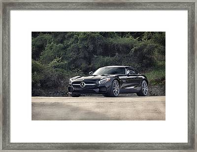 Framed Print featuring the photograph #mercedes #amg #gts by ItzKirb Photography