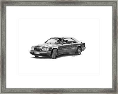 Mercedes-benz E-class Coupe Framed Print by Gabor Vida