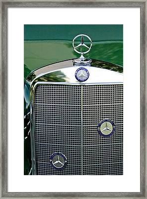 Mercedes Benz Hood Ornament Framed Print by Jill Reger