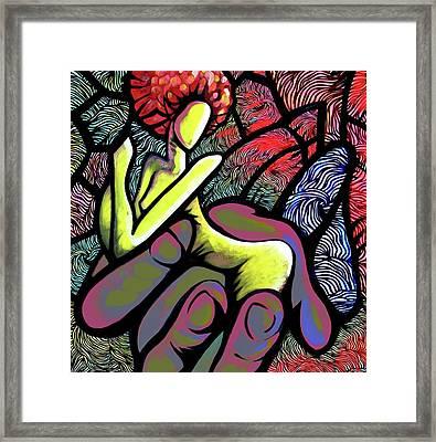 Mercy's Hand Framed Print