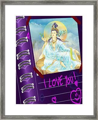 Merit King Kuan Yin Framed Print