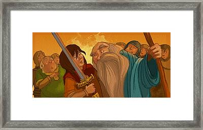 Merlin's Scrutiny Framed Print by Andy Catling