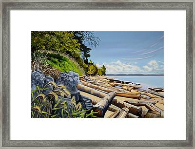 Mermaid Cove Framed Print by Elissa Anthony
